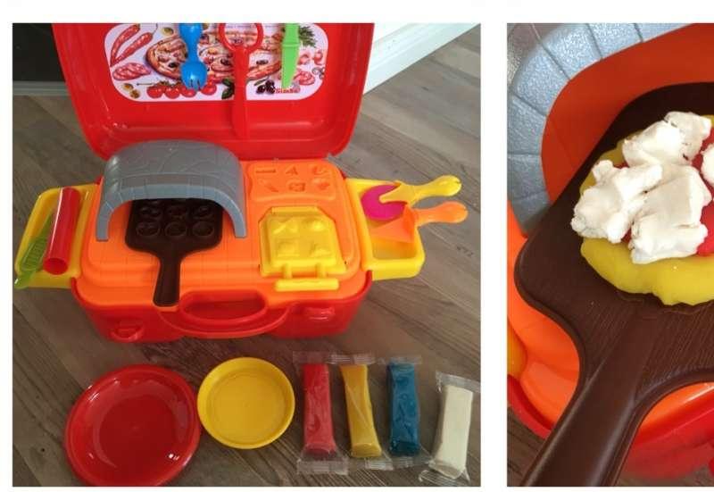 Simba/Basteln, Malen & Kreativ:Knetset Pizzaofen im Koffer