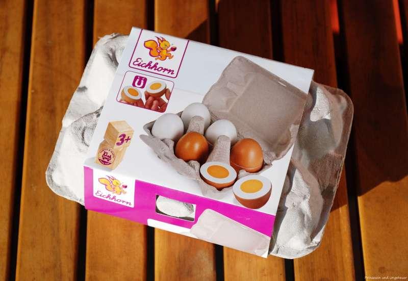 Eichhorn - Eier aus Holz