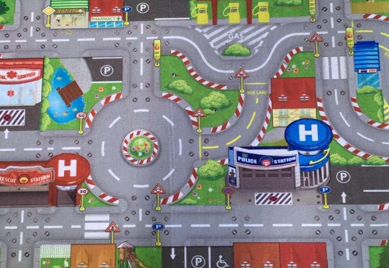 Majorette/Autos, Fahrzeuge, Boote & Flieger:Creatix Spielteppich S.O.S.