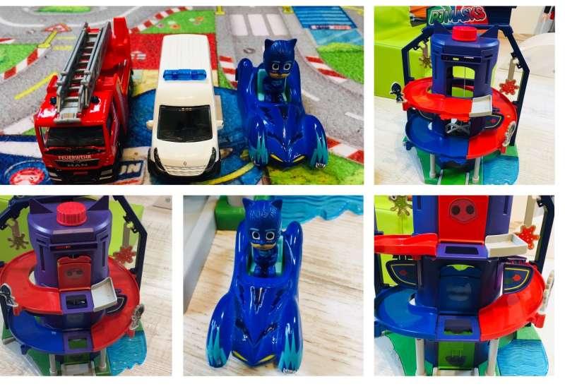 Dickie Toys/Autos, Fahrzeuge, Boote & Flieger:PJ Masks Headquarter