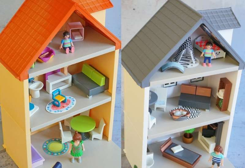 Playmobil/Kinder Rollenspiele:Playmobilhaus-Umstyling