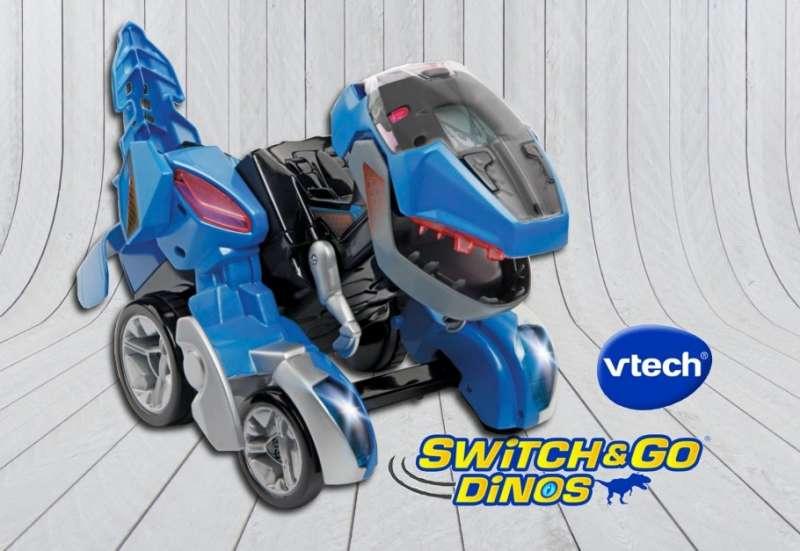 VTECH/Autos, Fahrzeuge, Boote & Flieger:Switch & Go Dinos