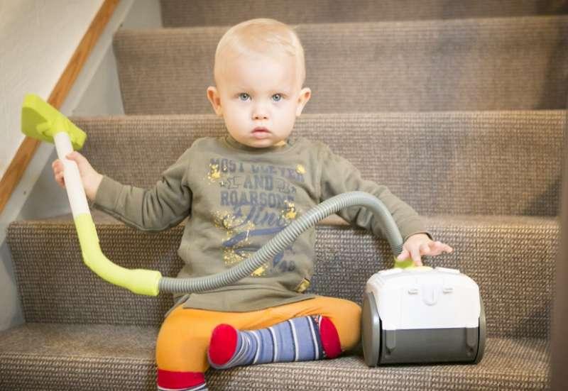 Smoby/Baby- & Kleinkindspielzeug:Schau her ein Staubsauger