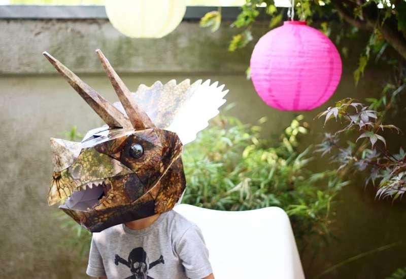 Simba/Basteln, Malen & Kreativ:Triceratops Maske basteln