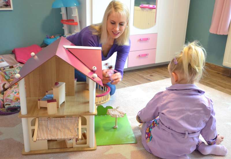 Eichhorn/Puppen & Puppenzubehör:Puppenhaus für Rollenspiele