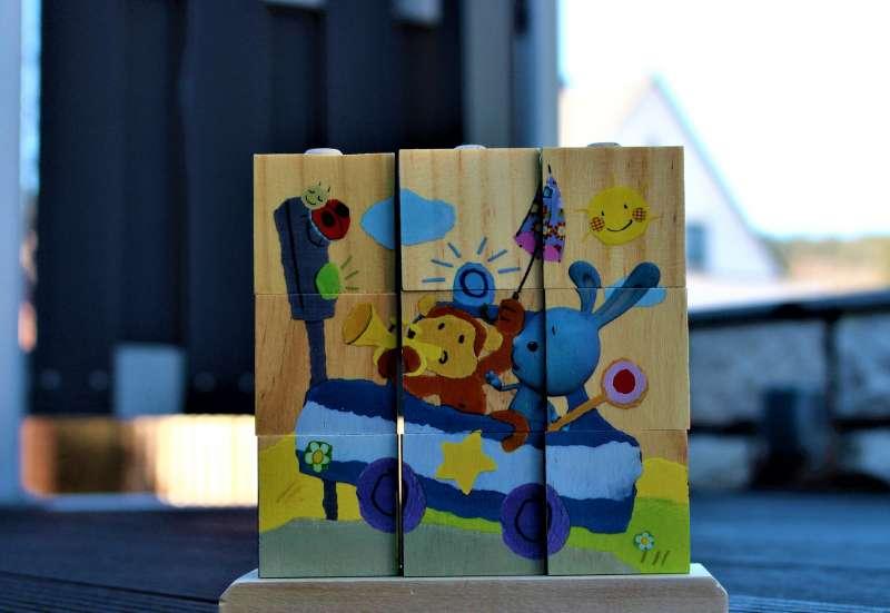 Bildpuzzle aus Holz