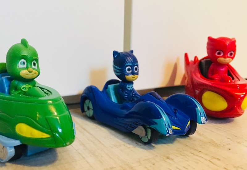 Dickie Toys/Autos, Fahrzeuge, Boote & Flieger:Das Fahrzeugset PJ Masks