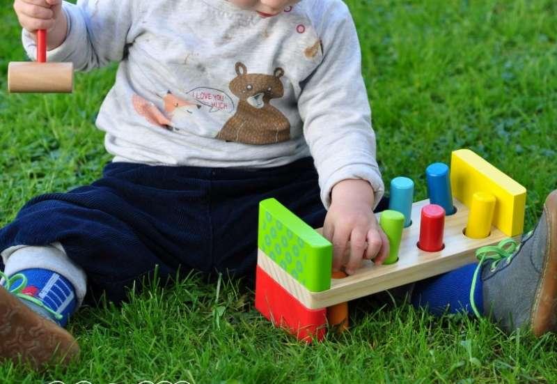 Eichhorn/Baby- & Kleinkindspielzeug:Bunte Klopfbank von Eichhorn