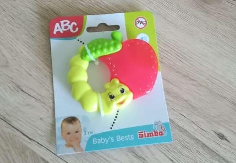 Simba/Baby- & Kleinkindspielzeug:Beißring Apfel und Raupe