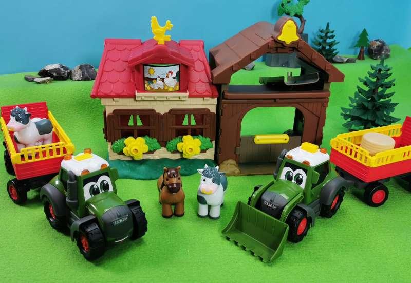 Dickie Toys/Autos, Fahrzeuge, Boote & Flieger:Happy Farm & Fendt Trailer