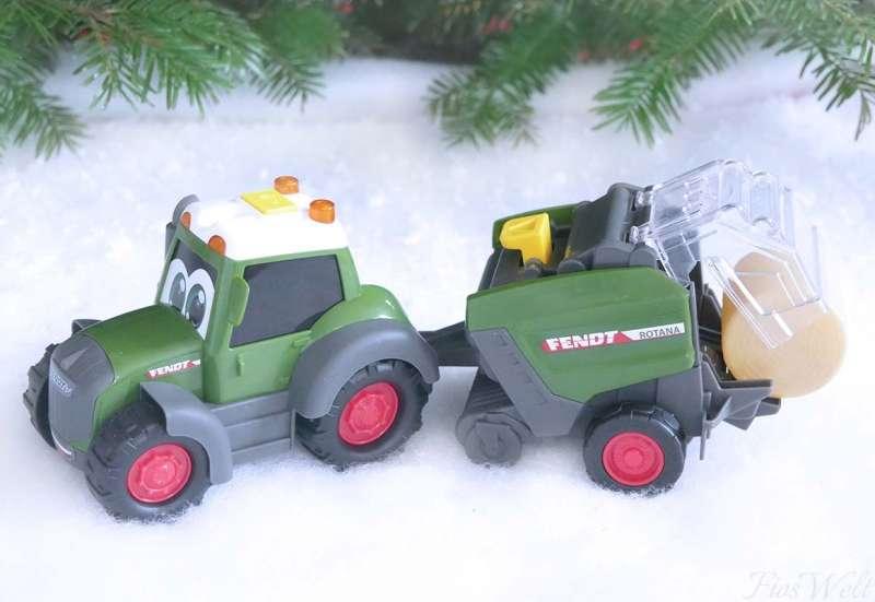 Dickie Toys/Autos, Fahrzeuge, Boote & Flieger:Happy Fendt Heuballenwender