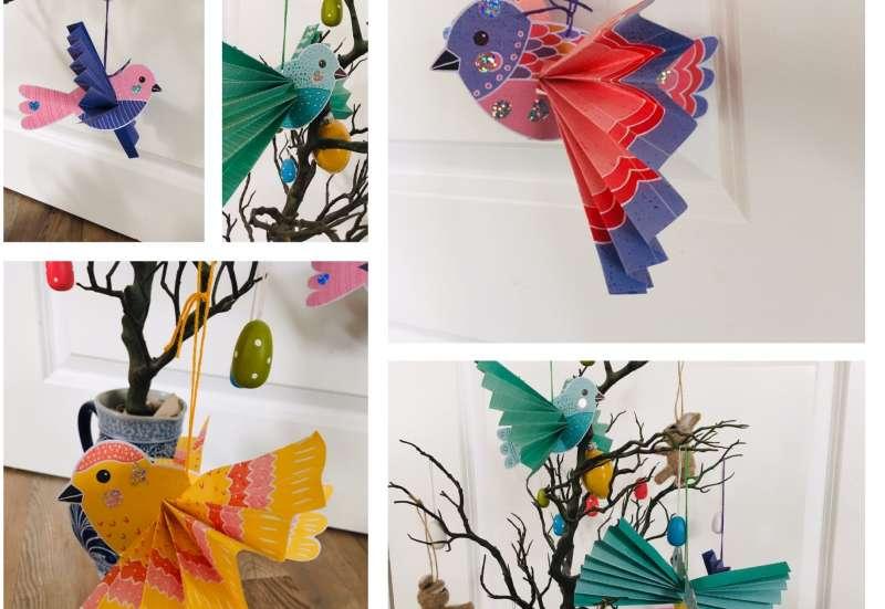 COPPENRATH/Basteln, Malen & Kreativ:Deko Faltvögel basteln