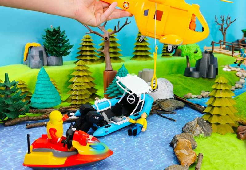 Dickie Toys/Autos, Fahrzeuge, Boote & Flieger:Playlife Fishing Boat Set