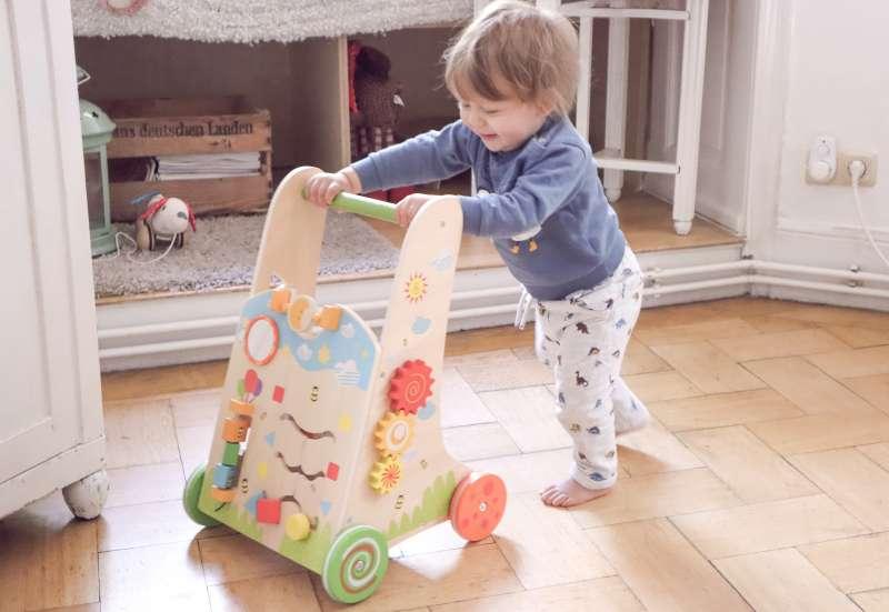 Eichhorn/Baby- & Kleinkindspielzeug:Eichhorn Color Lauflernwagen