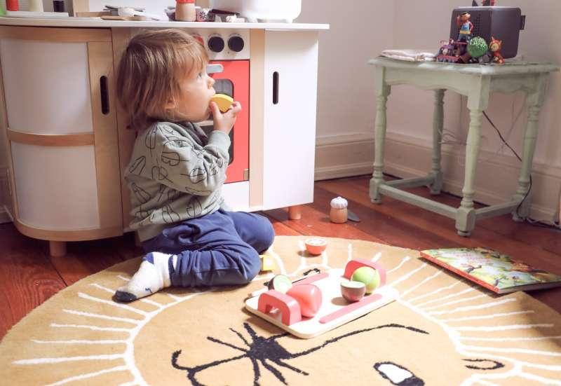 Eichhorn/Baby- & Kleinkindspielzeug:Eichhorn Schneidebrett Früchte
