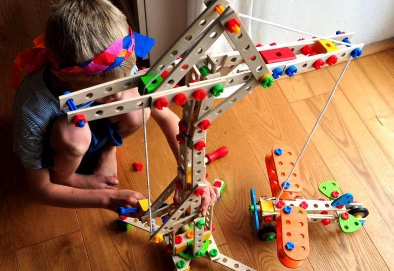Eichhorn/Bauen & Konstruieren:Doppeldecker- und Windrad-Set