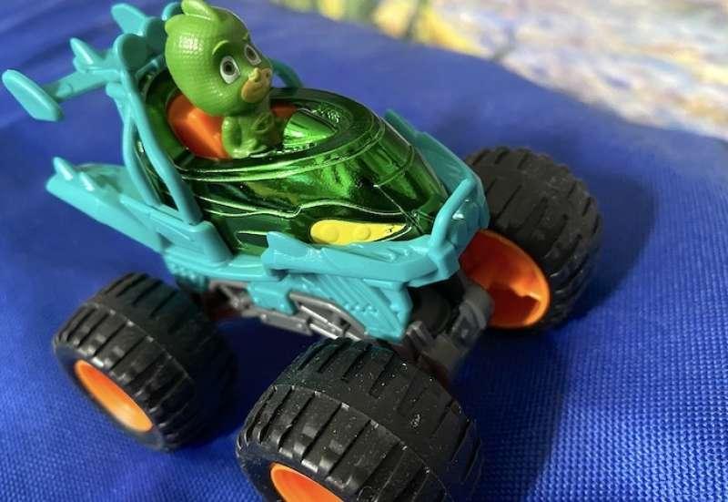 Dickie Toys/Kinderfahrzeuge (z. B. Bobby Car):PJ Masks Gecko auf Mega Wheels