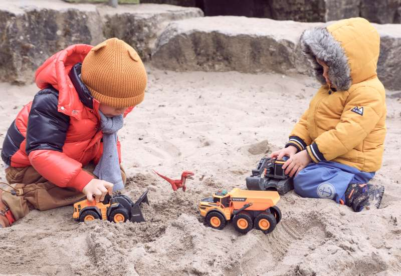 Dickie Toys/Autos, Fahrzeuge, Boote & Flieger:Volvo Baustellenfahrzeuge