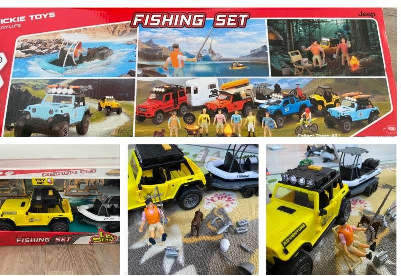 Dickie Toys/Spielewelten & Sammelfiguren:Fishing Set - Auto mit Boot