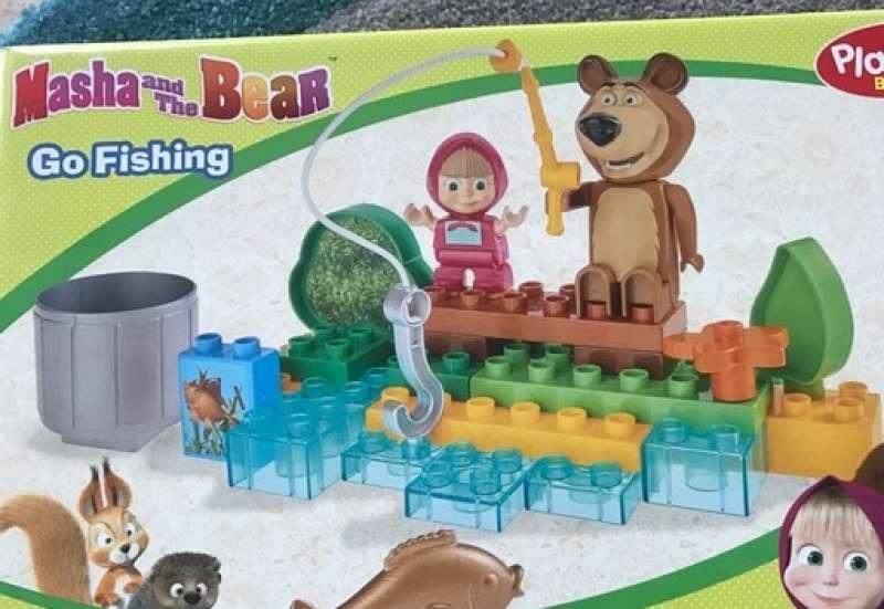 BIG/Baby- & Kleinkindspielzeug:PlayBIG Bloxx: Masha & der Bär