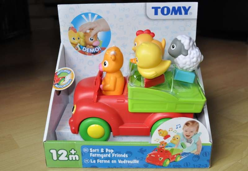 TOMY/Baby- & Kleinkindspielzeug:Bauernhof-Tiere, Sortierspaß