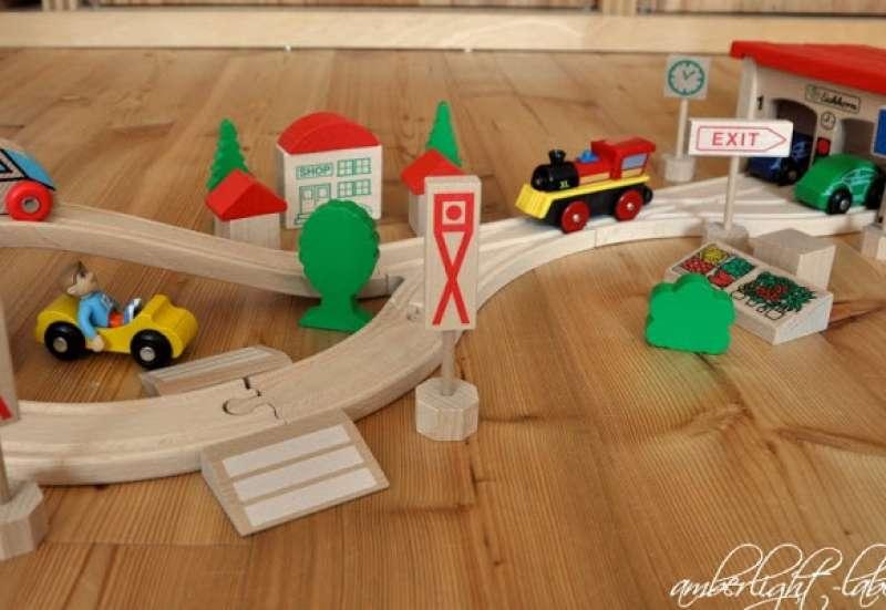 Eichhorn/Bauen & Konstruieren:Holz-Bahnset von Eichhorn