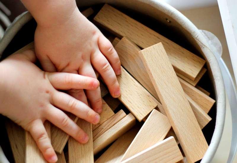 Der Eichhorn Holzbaukasten