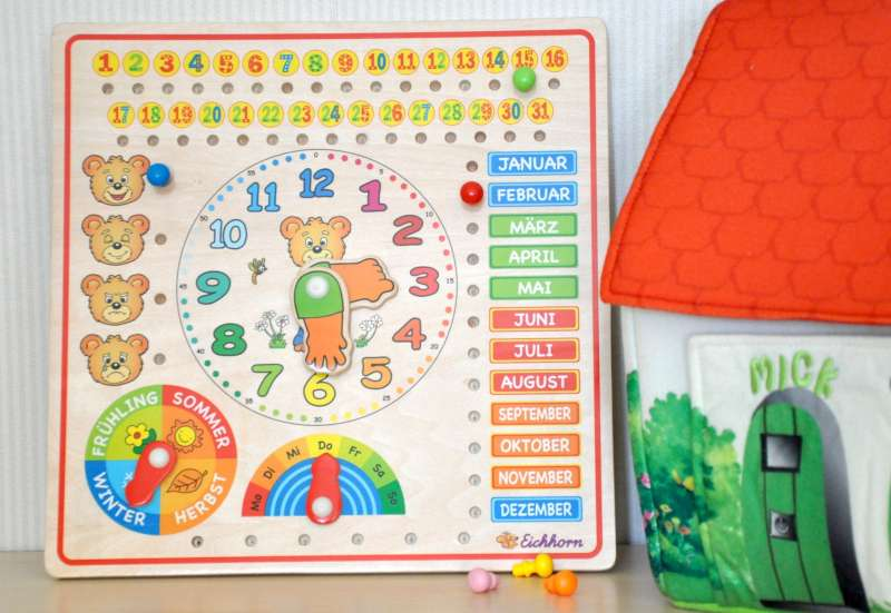 Die Eichhorn Kalenderuhr